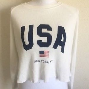 Oversized John Galt Thermal USA Top